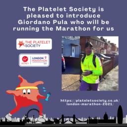 Platelet Society Banner advertising the runner