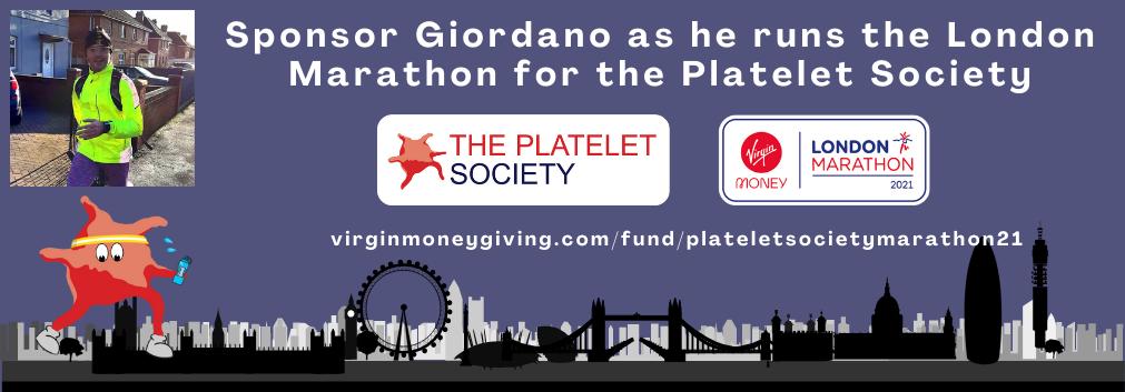 Sponsor Giordano as he runs the London Marathon for the Platelet Society(1)