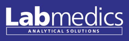 Labmedics Logo White Text